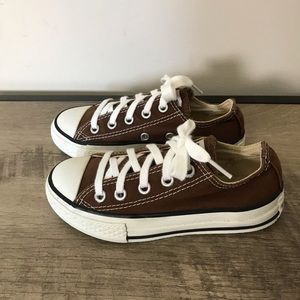 CONVERSE All Star CHUCKS Low BROWN Shoes SNEAKERS